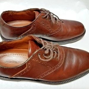 JOHNSTON & MURPHY MENS Size 9 M Brown Leather